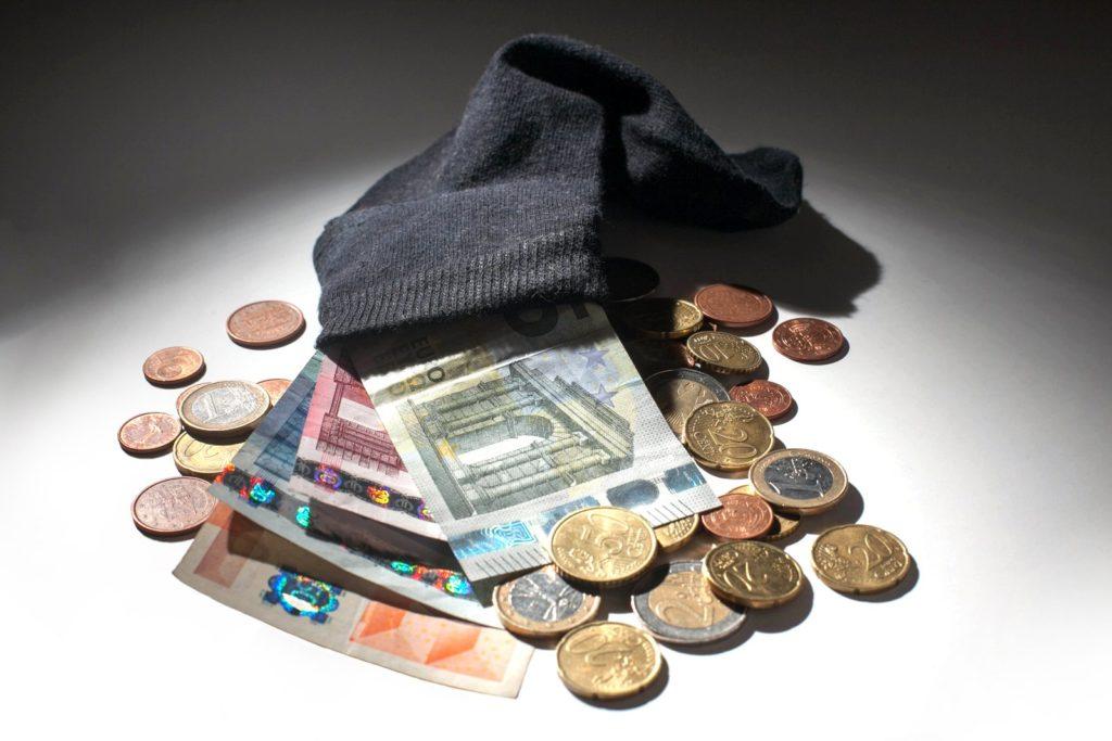 geld in je ouwe sok